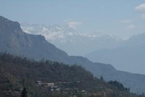 View of Gauri Shankar massif, Nepal